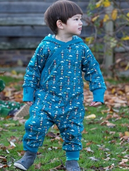 "Nur noch Grösse 9-12 Monate: ""Night Sky Rockets"" Overall (Snug As a Bug Suit) von Little Green Radicals, Bio-Baumwolle"